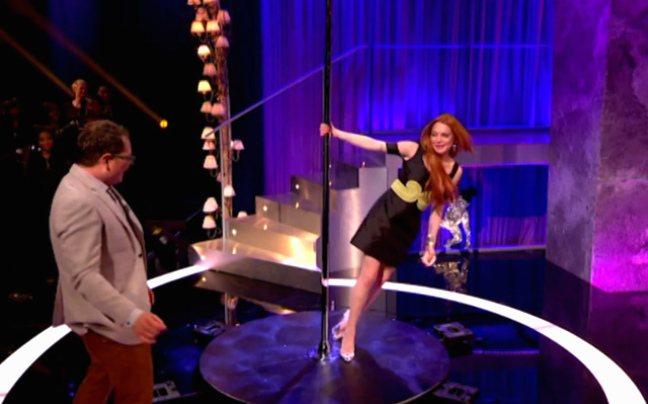 Μαθήματα pole dancing από τη Lindsay Lohan