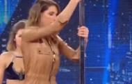 Η πρώην «Μις Γαλλία» πήγε να κάνει pole dancing και έφαγε τα μούτρα της