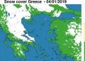Η μισή Ελλάδα καλύφθηκε από χιόνι